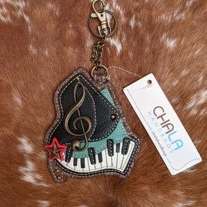 NWT Chala Piano Bag Charm Key Ring Coin Purse